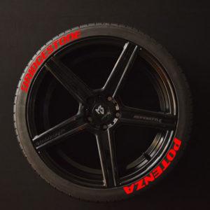 Tirestickers - Tirelabeling-Bridgestone-Potenza-red-8er