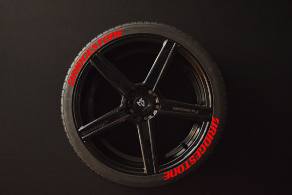 Tirestickers - Tirelabeling-Bridgestone-red-8er