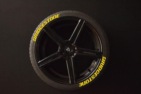 Tirestickers - Tirelabeling-Bridgestone-yellow-8er