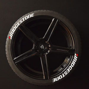 Tirestickers - Tirelabeling-Bridgestone-white-8er