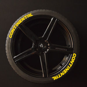 Tirestickers - Tirelabeling-Continental-yellow-8er