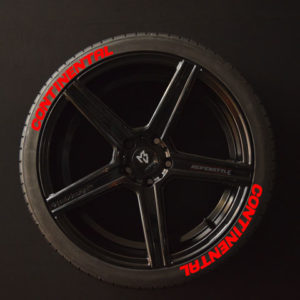 Tirestickers - Tirelabeling-Continental-red-8er