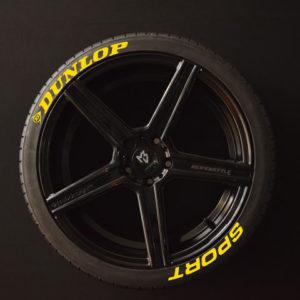 Tiresticker-Dunlop-Sport-yellow-8er