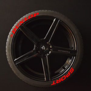 Tiresticker-Dunlop-Sport-red-8er