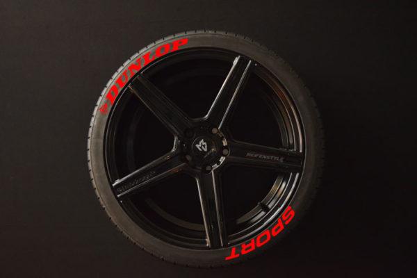 Tiresticker-Dunlop-Sport-red-8er