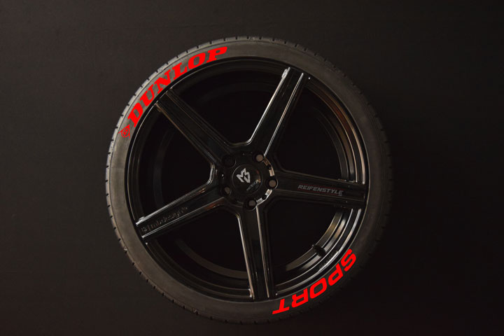 Tirestickers - Tirelabeling-Dunlop-Sport-red-8er