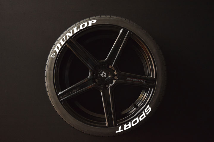 Tiresticker-Dunlop-Sport-white-8er