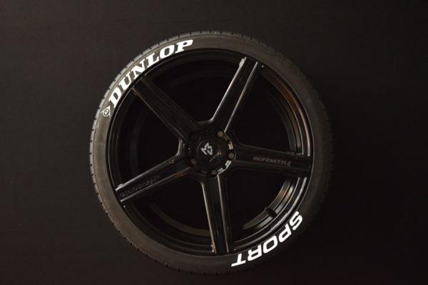 Tirestickers - Tirelabeling-Dunlop-Sport-white-8er