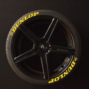 Tirestickers - Tirelabeling-Dunlop-yellow-8er