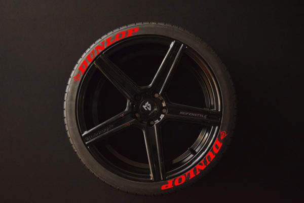 Tirestickers - Tirelabeling-Dunlop-red-8er