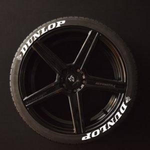 Tirestickers - Tirelabeling-Dunlop-white-8er