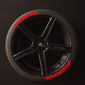 Tirestickers - Tirelabeling-Hankook-red-8er