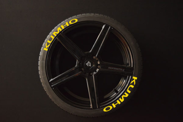 Tirestickers - Tirelabeling-KUMHO-yellow-8er