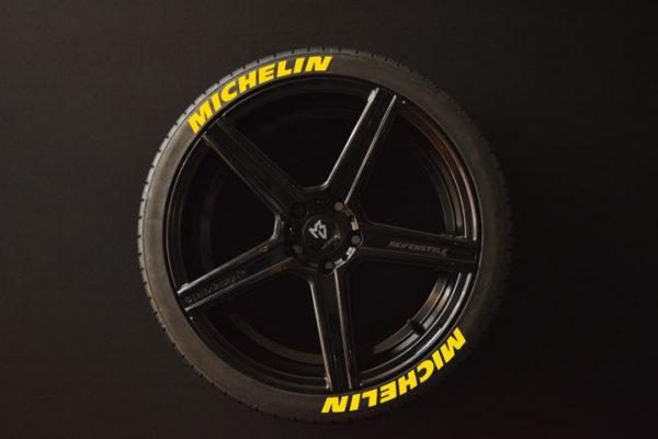 Tirestickers - Tirelabeling-Michelin-yellow-8er