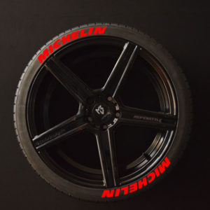 Tirestickers - Tirelabeling-Michelin-red-8er