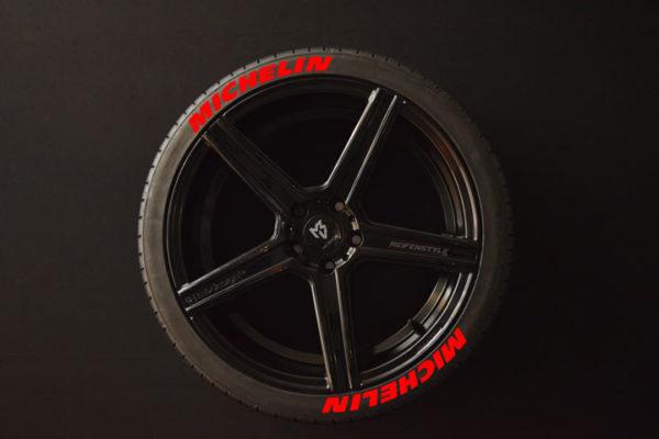 Tirestickers - Tirelabeling-Michelin-red-8er