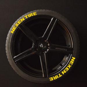 Tirestickers - Tirelabeling-NEXEN-TIRE-yellow-8er