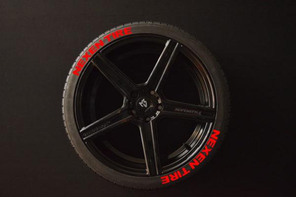 Tirestickers - Tirelabeling-NEXEN-TIRE-red-8er
