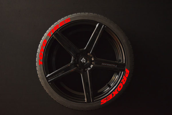 Tirestickers - Tirelabeling-TOYO-TIRES-PROXES--WIDE-red-8er