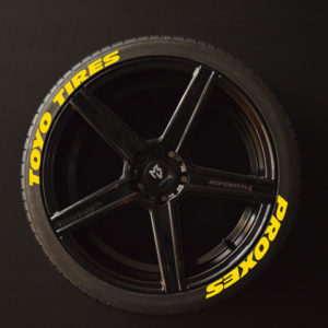 Tirestickers - Tirelabeling-TOYO-TIRES-PROXES--WIDE-yellow-8er