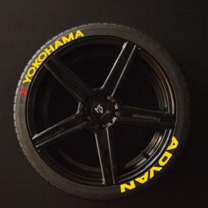 Tirestickers - Tirelabeling-Yokohama-Advan-yellow-8er