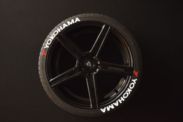 Tirestickers - Tirelabeling-Yokohama-white-8er