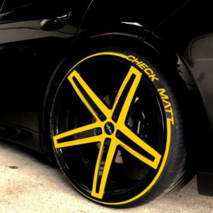 Tirestripes yellow Tirestickers - Tirelabeling
