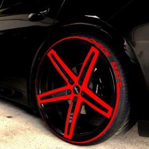 Tirestripes Red Tirestickers - Tirelabeling