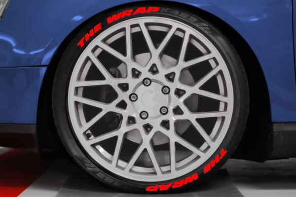 Tirestickers - Tirelabeling Red own text