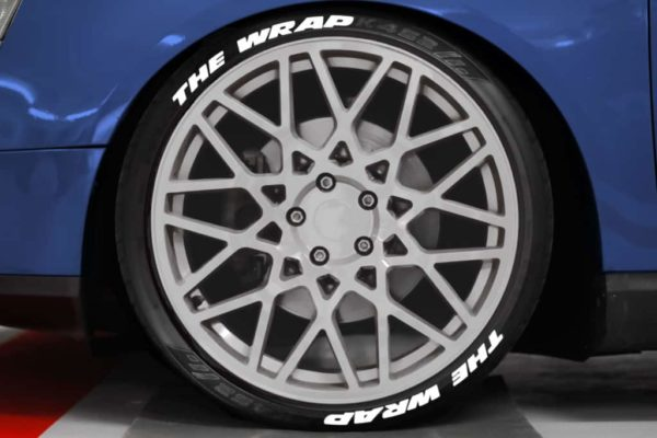 Tirestickers - Tirelabeling white own text